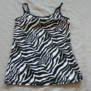 Justice size 8 zebra print camisole